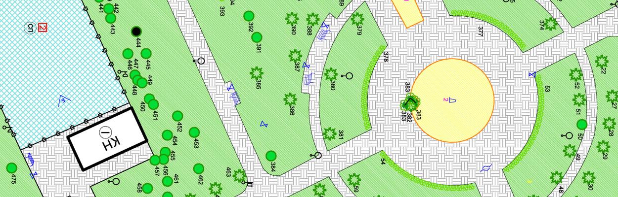 Картографические работы при Инвентаризации зеленых насаждений