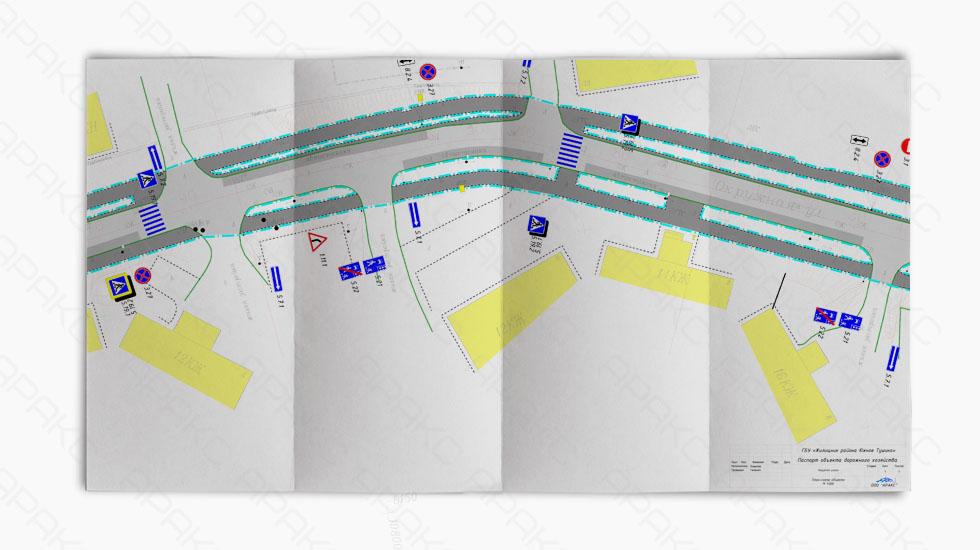 План-схема паспорта объекта дорожного хозяйства